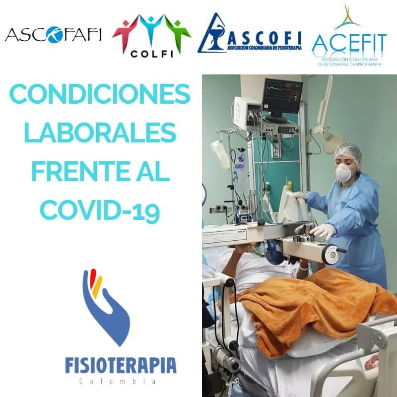 Encuesta de condiciones laborales de Fisioterapeutas que se encuentran atendiendo o atenderán la pandemia COVID-19