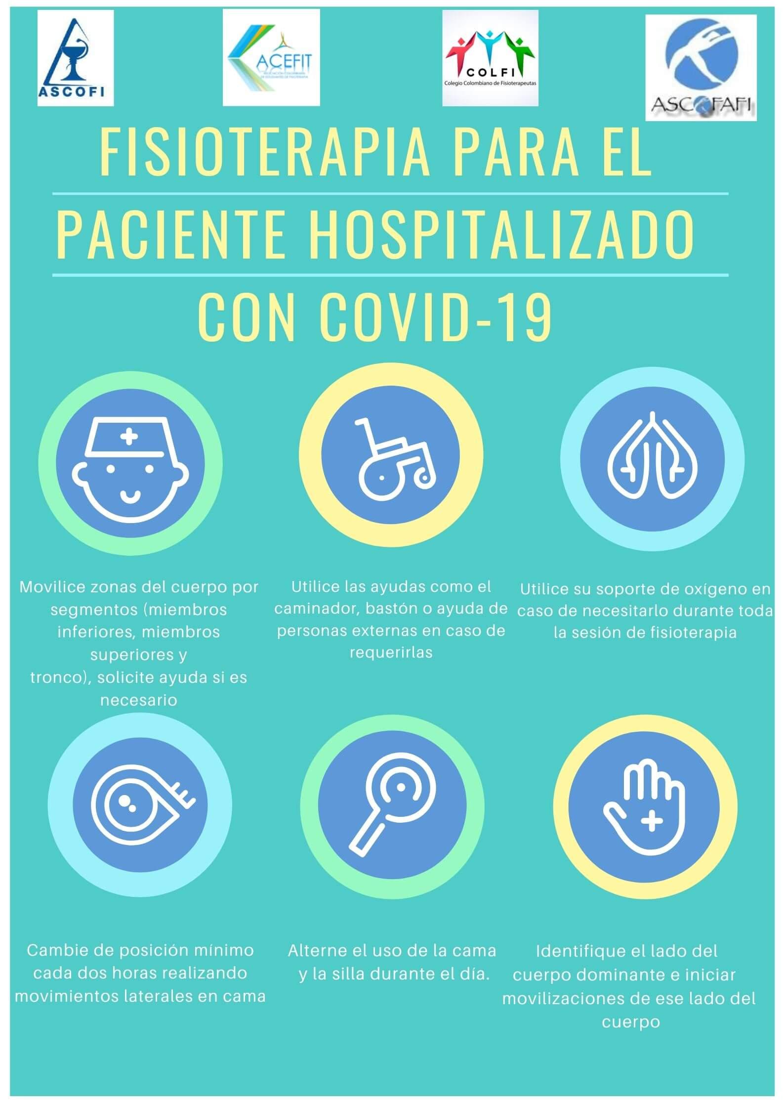 Elementos de protección personal, fisioterapia en hospitalización, entre otras.