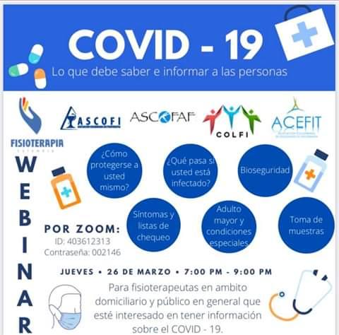 Fisioterapia en Colombia y del grupo de trabajo Fisioterapia, COVID-19 y entorno domiciliario.