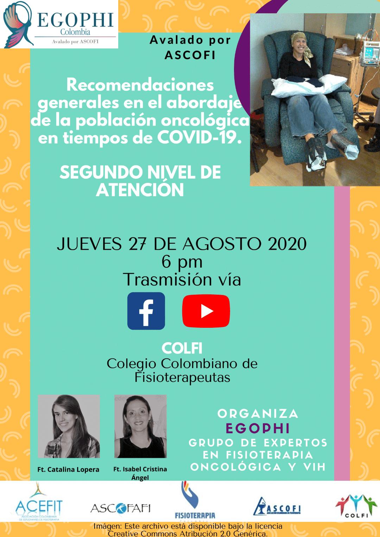 RECOMENDACIONES GENERALES EN EL ABORDAJE DE LA POBLACIÓN ONCOLÓGICA EN TIEMPOS DE COVID-19.