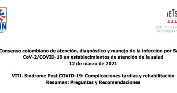 capítulo: VIII. Síndrome Post COVID-19: