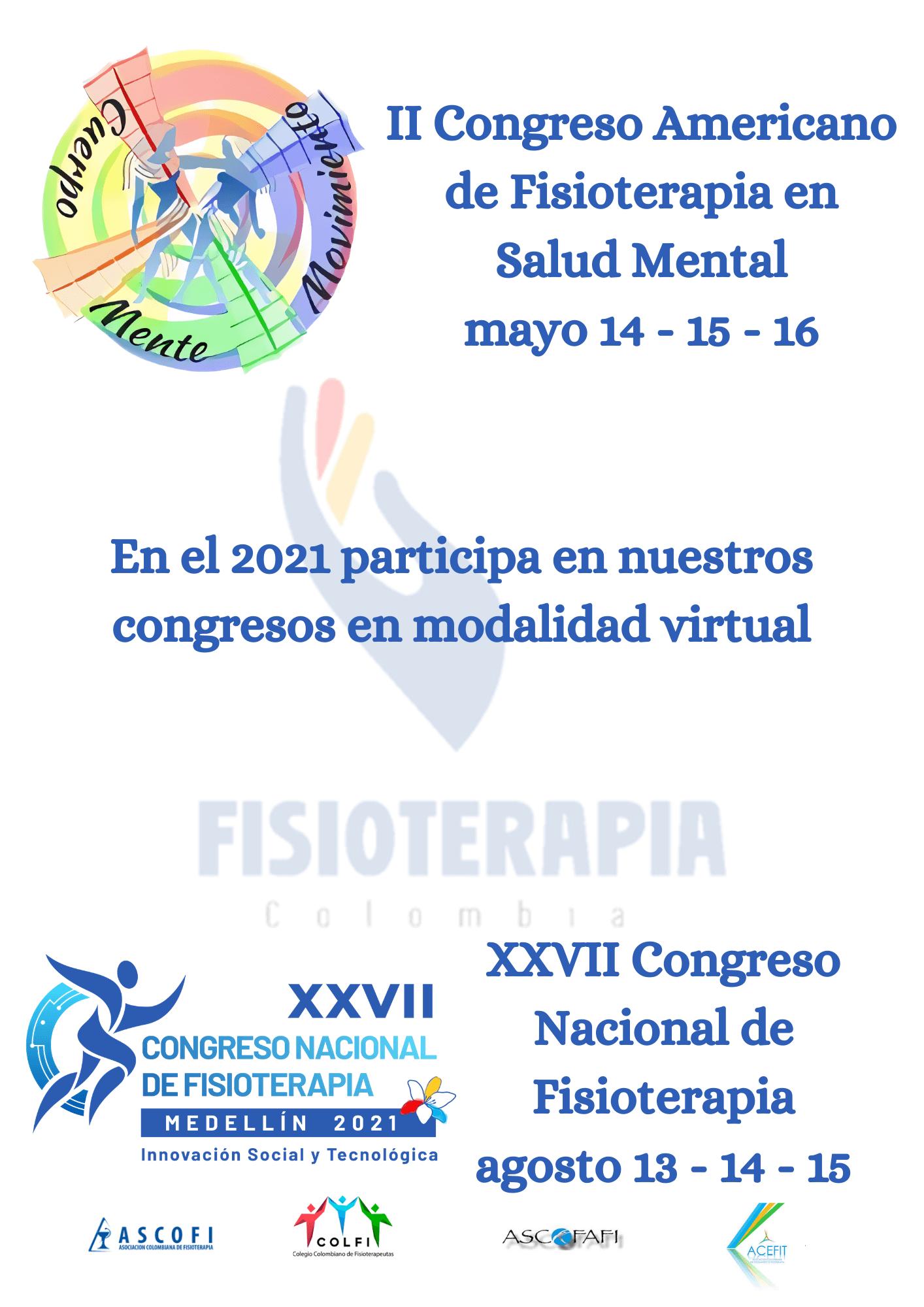 Congresos Fisioterapia 2021